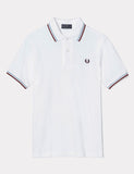 Fred Perry Twin Tipped Polo Shirt - White