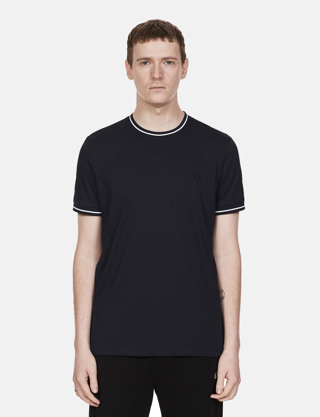 Fred Perry Twin Tipped T-Shirt - Navy Blue | URBAN EXCESS.