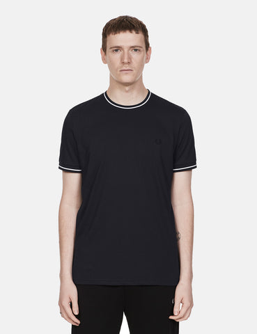 Fred Perry Twin Tipped T-Shirt - Navy Blue