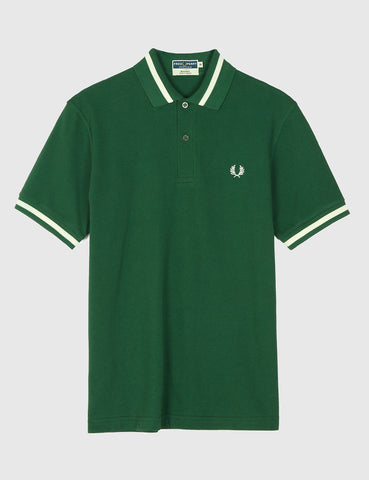 Fred Perry Single Tipped Polo Shirt - Tartan Green