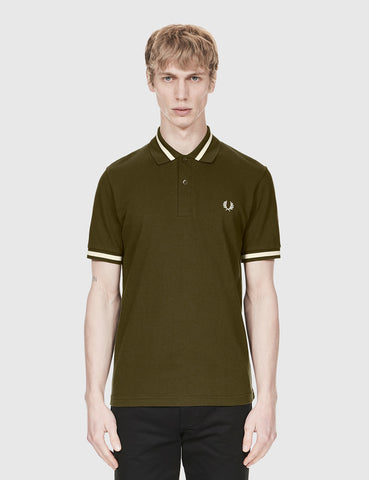 Fred Perry Single Tipped Polo Shirt - Hunting Green