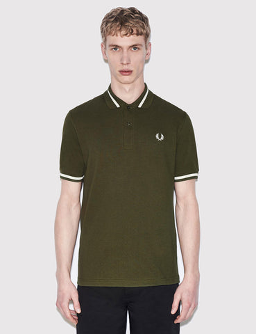 Fred Perry Single Tipped Polo Shirt - Thorn Green