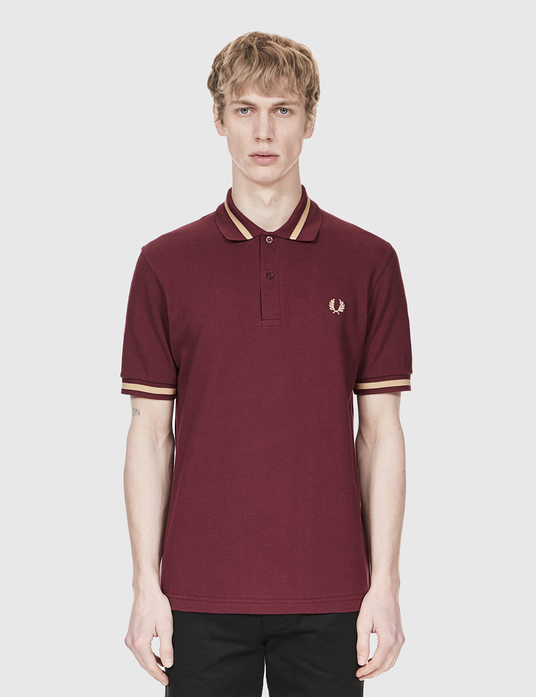Fred Perry Single Tipped Polo Shirt - Aubergine