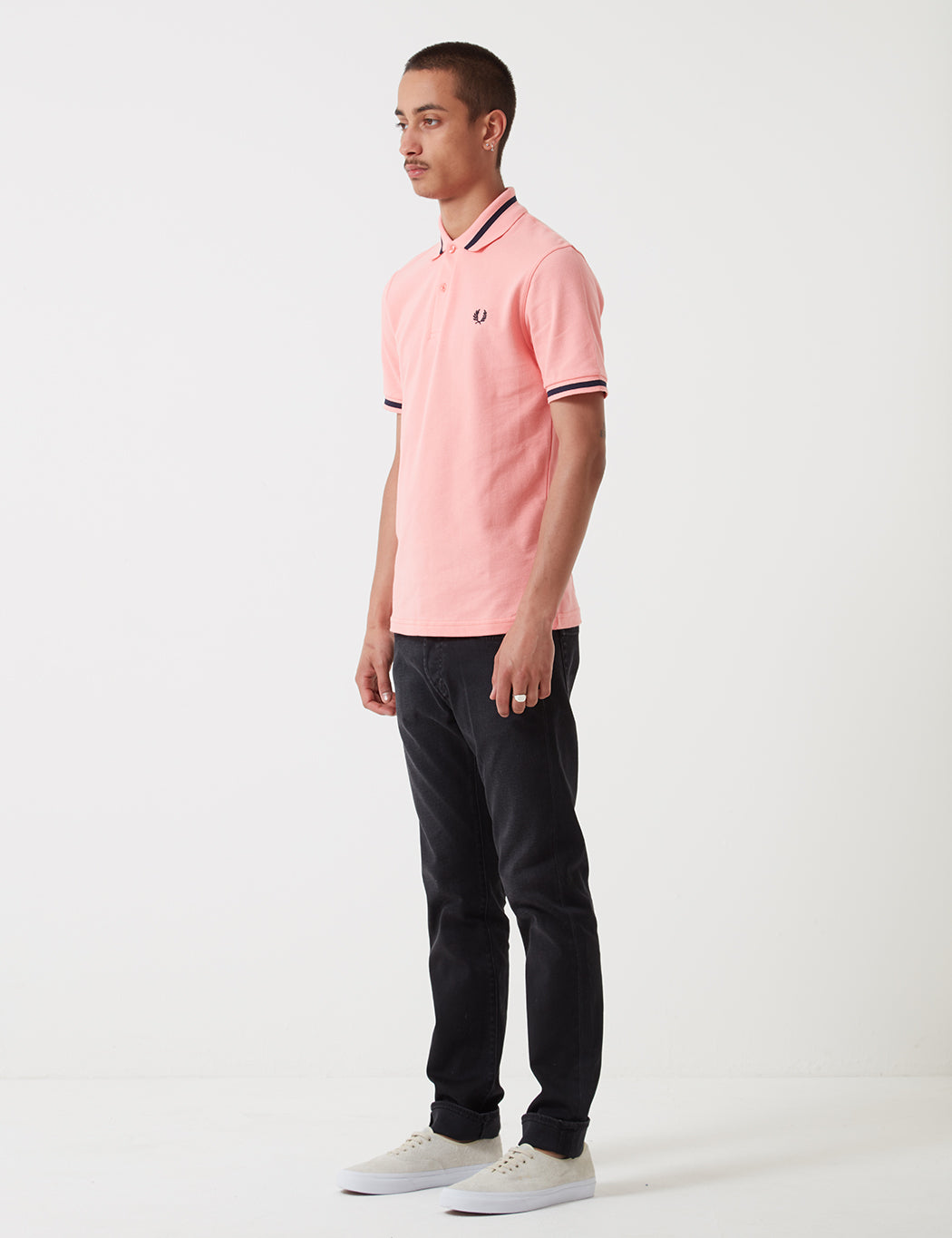 Fred Perry Single Tipped Polo Shirt - Sherbet White