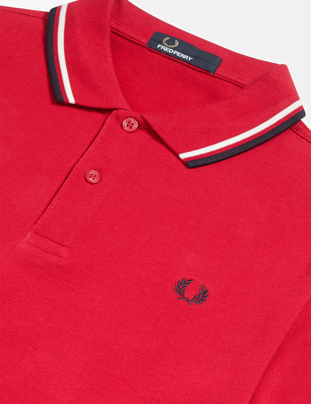 c8fa47667 Fred Perry Twin Tipped Polo Shirt - Winter Red/Snow White/Navy