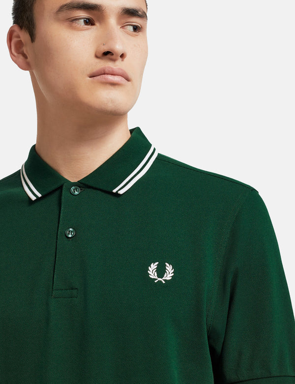 Fred Perry Twin Tipped Polo Shirt - Ivy Green