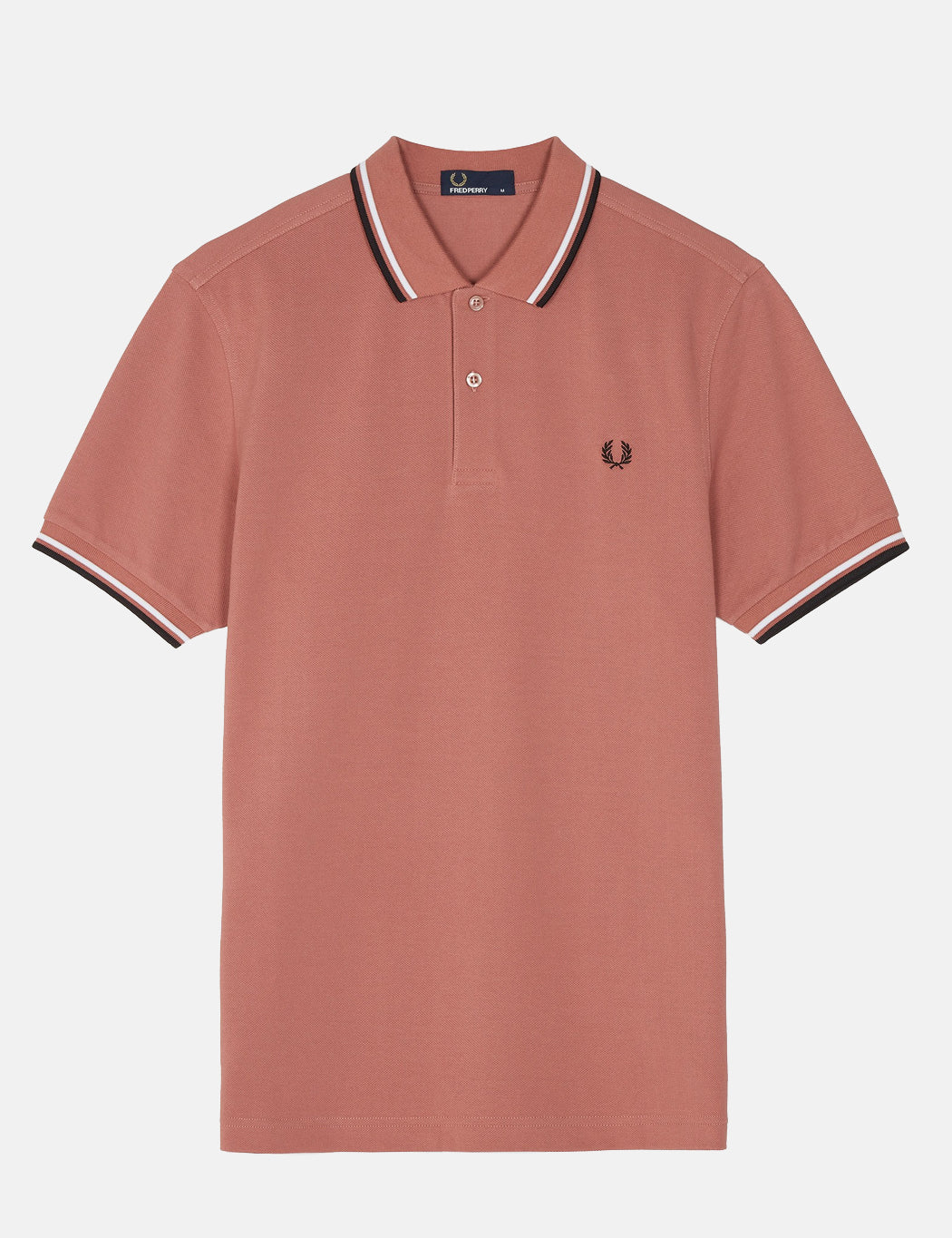 e7e5d4358 ... Fred Perry Twin Tipped Polo Shirt - Burlwood Pink ...