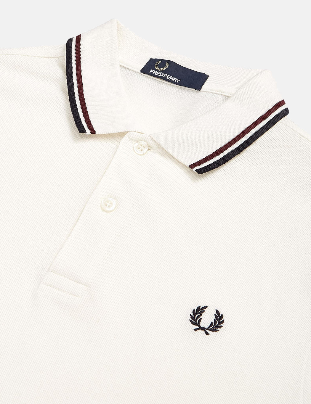 9bcb1ee4 Fred Perry Twin Tipped Polo Shirt - Snow White/Shiraz | URBAN EXCESS.