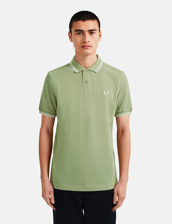Fred Perry Twin Tipped Polo-Hemd - Licht Sage