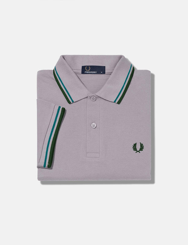 Fred Perry Twin Tipped Polo Shirt - Rain