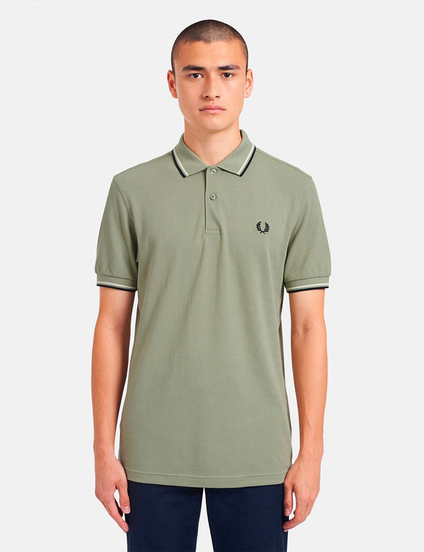 Fred Perry Twin Tipped Polo Shirt - Seagrass