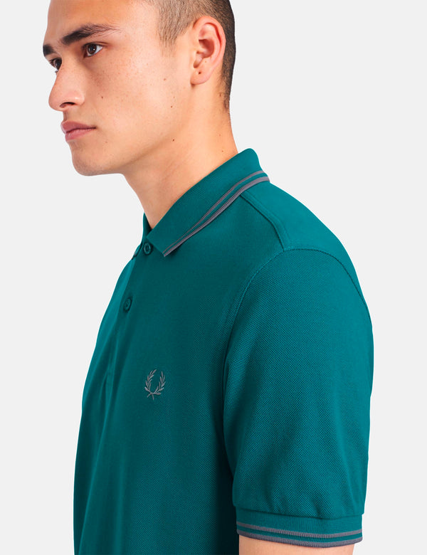 Fred Perry Twin Tipped Polo Shirt - Fanfare/50's Silver