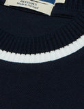 Fred Perry Crew Neck Pique T-Shirt - Navy
