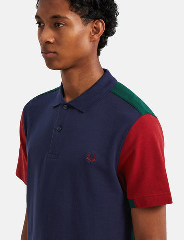 Fred Perry Bold Cuff Insert Polo Shirt - Carbon Blue