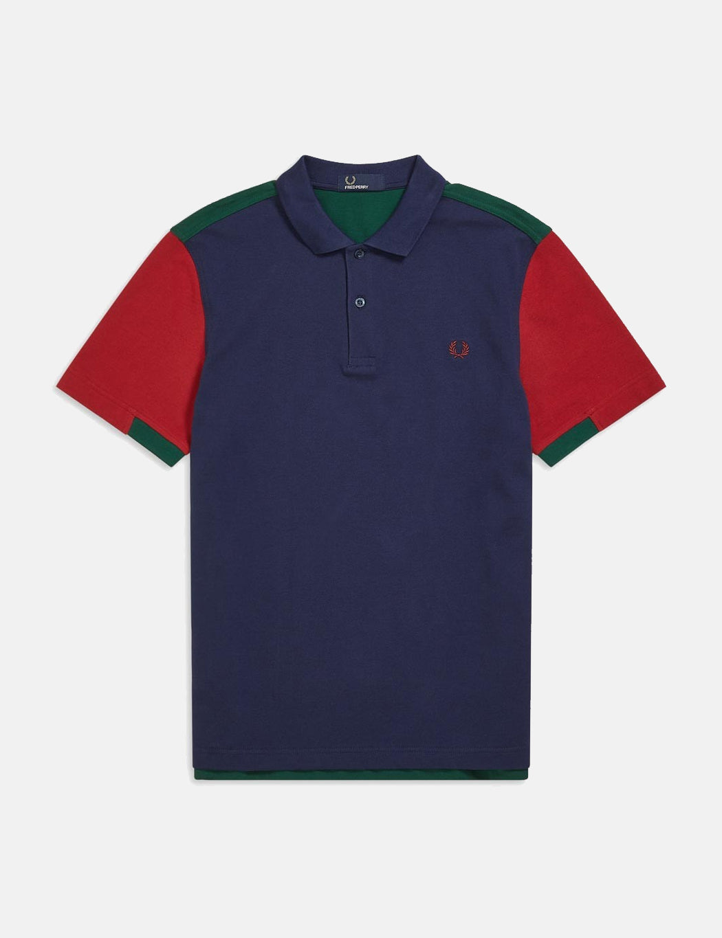 97093992989 ... Fred Perry Bold Cuff Insert Polo Shirt - Carbon Blue