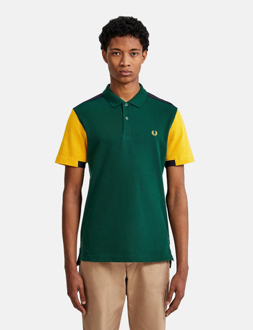 Fred Perry Bold Cuff Insert Polo Shirt - Ivy Green
