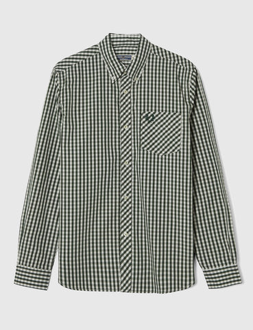Fred Perry Gingham Shirt - Tartan Green