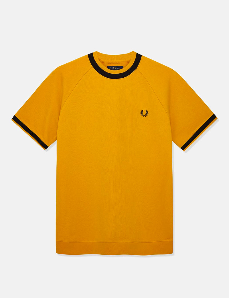 Fred Perry Raglan Sweat Top T-shirt - Gold