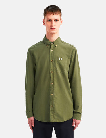Fred Perry Overdyed Shirt - Military Green