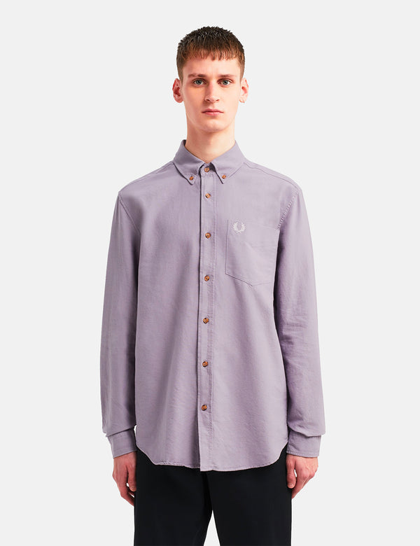 Chemise Fred Perry Overdyed - Dark Lavender