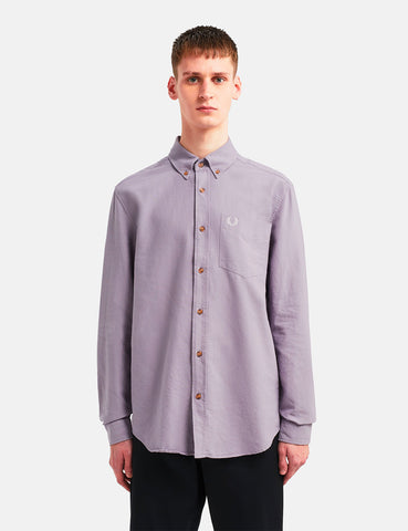 Fred Perry Overdyed Shirt - Dark Lavender