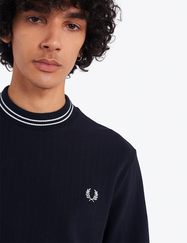 T-Shirt à Manche Courte Fred Perry Reissues Crew Neck - Navy Blue