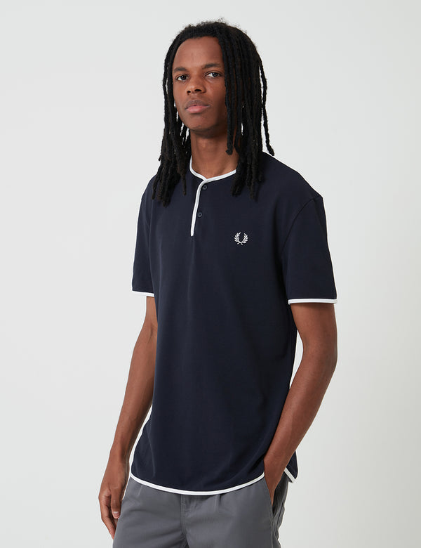 T-Shirt Henley Fred Perry Reissues - Navy Blue