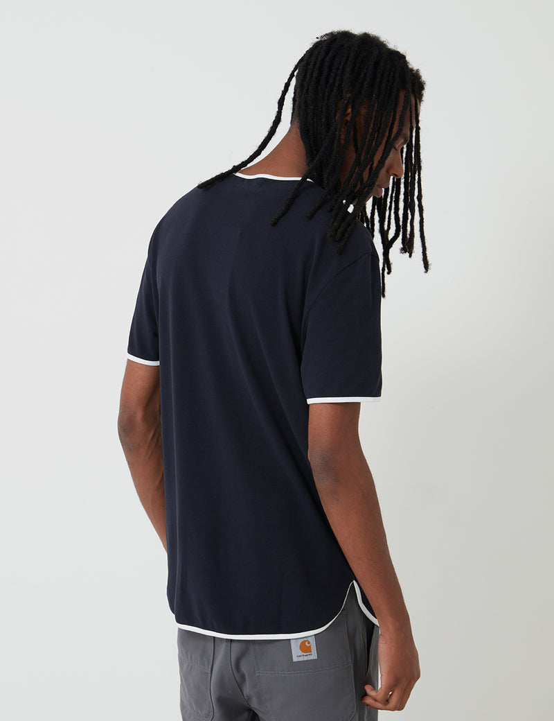 Fred Perry Reissues Henley T-Shirt - Navy Blue