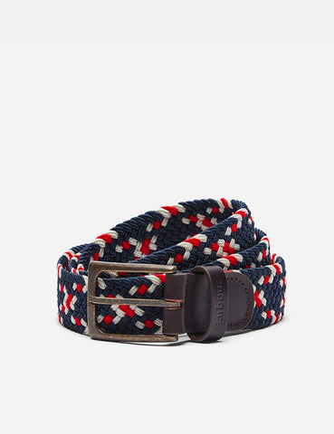 Barbour Ford Plaited Belt - Red/Navy Mix