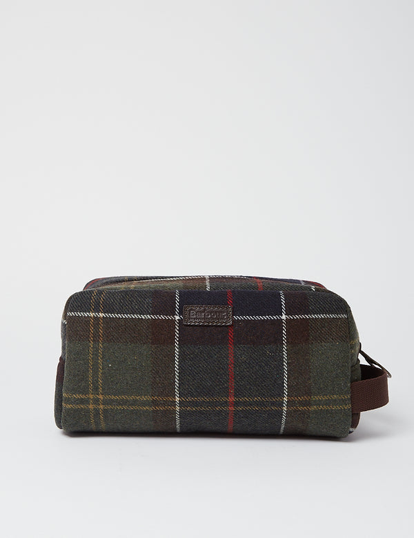 Barbour Tartan Washbag - Klassiker