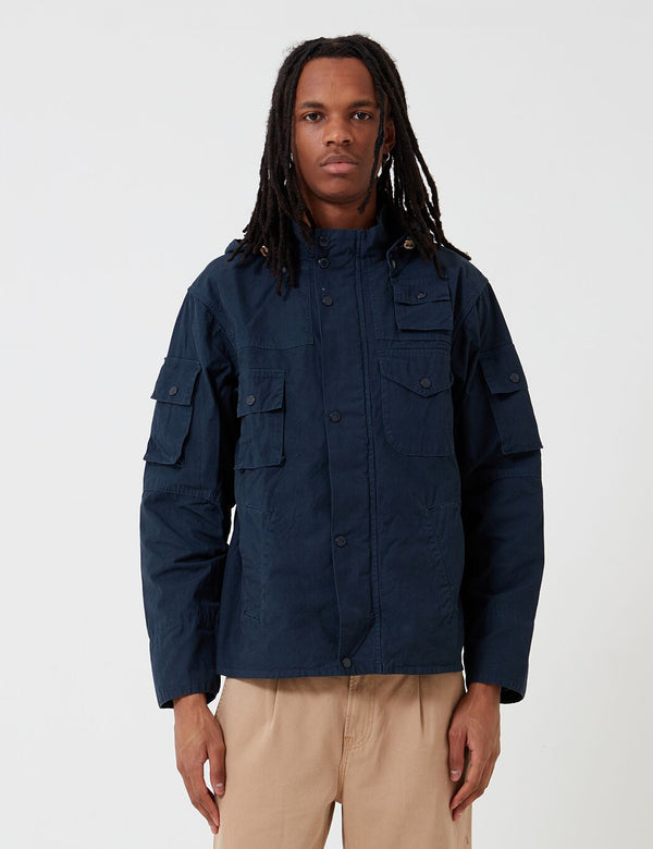Barbour x Engineered Garments Cowen Washed Casual Jacket - Navy Blue