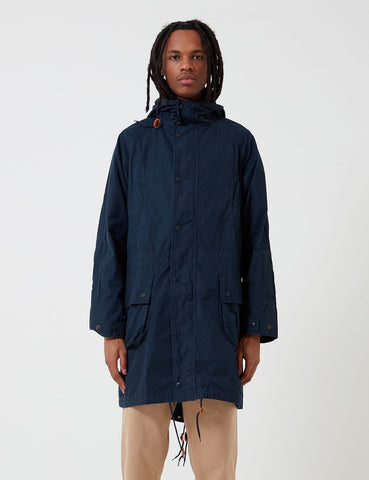 Barbour x Engineered Garments Washed Highland Parka - Navy Blue