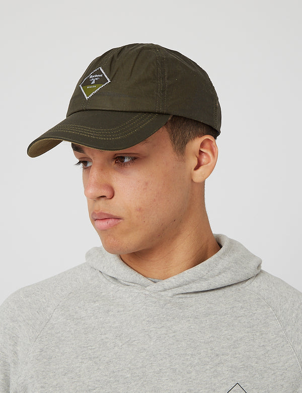 Casquette Barbour Beacon Wax Sports - Olive Green