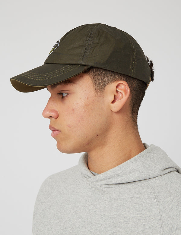 Barbour Beacon Wax Sports Cap - Olive Green