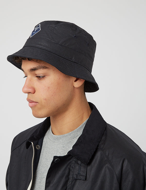 Barbour Beacon Wax Sports Bucket Hat - Navy Blue