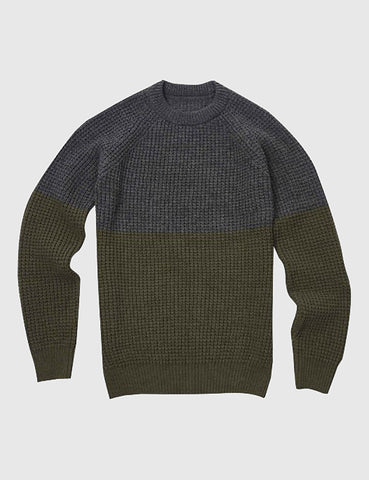 Barbour x Wood Wood Barns Ness Knit Jumper - Grey Marl