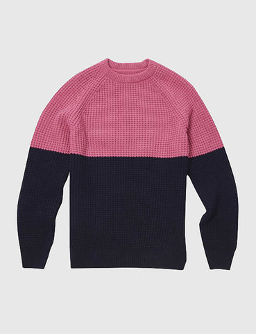 Barbour x Wood Wood Barns Ness Knit Jumper - Pink Marl