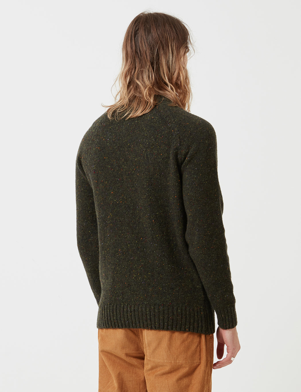Barbour Netherton Crew Neck Knit - Forest