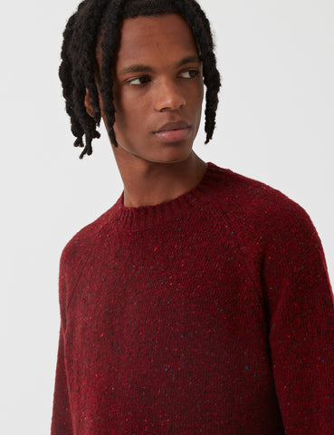 Barbour Netherton Knit Sweatshirt - Merlot