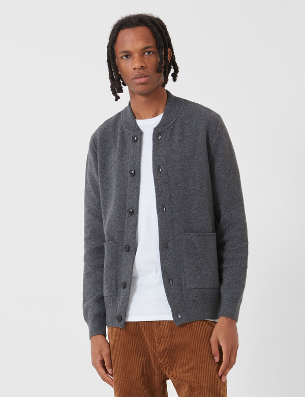 Barbour Witton Button Thru Sweatshirt - Dark Grey