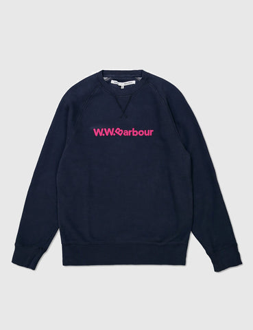Barbour x Wood Wood Ornsay Sweatshirt - Navy