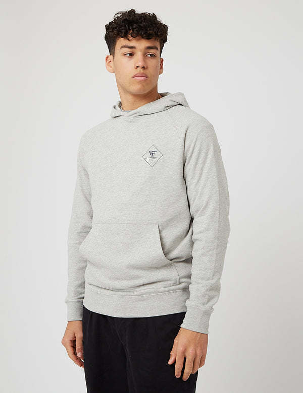 Barbour Beacon Netherly Hoodie - Grey Marl