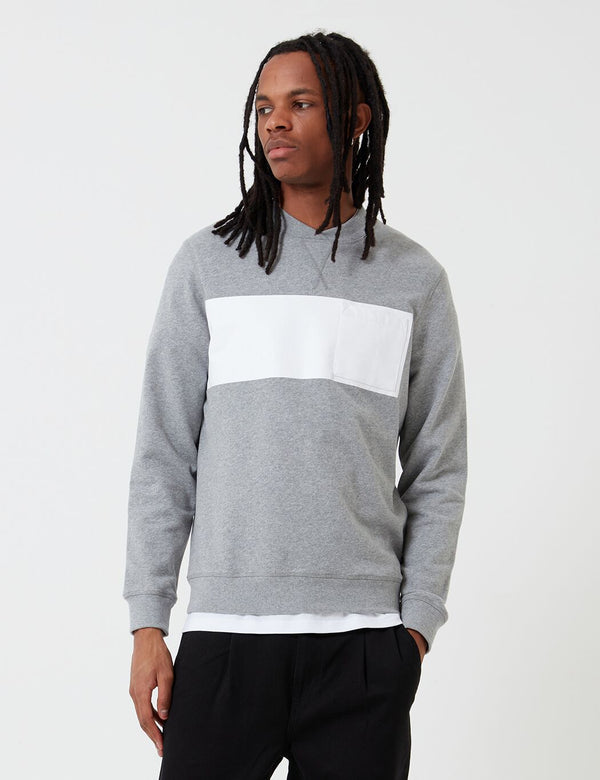 Barbour Herbrides Sweatshirt (White Label) - Grau melierte