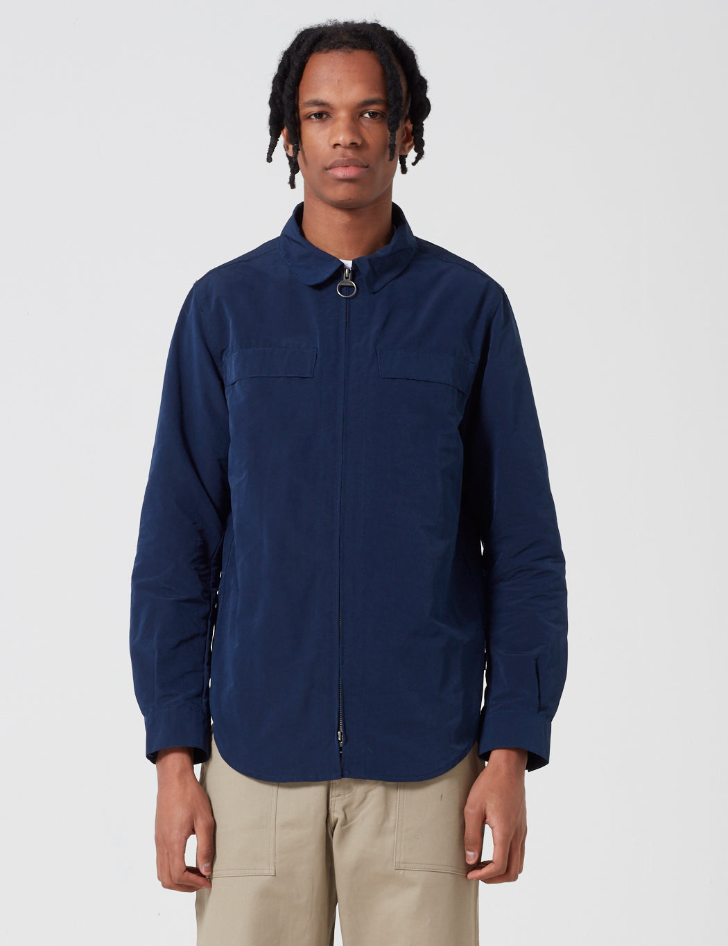Barbour Hoad Zip Overshirt - Navy Blue