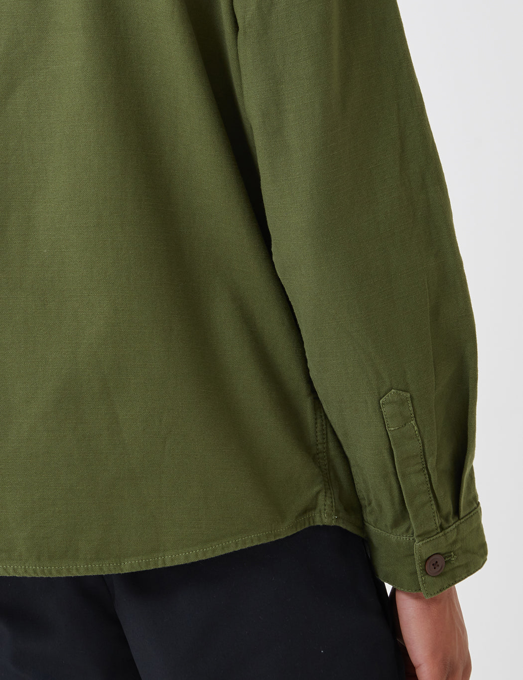 Barbour Seaton Overshirt - Burnt Olive Green