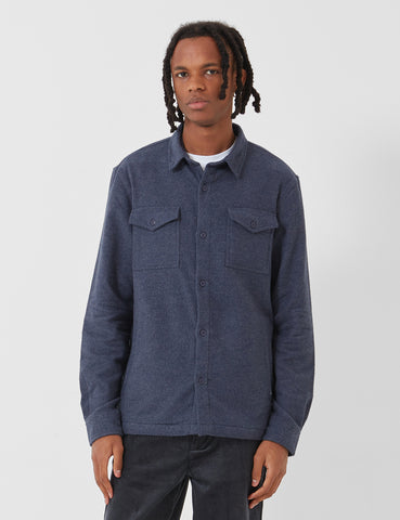 Barbour Brushed Twill Overshirt - Navy Blue