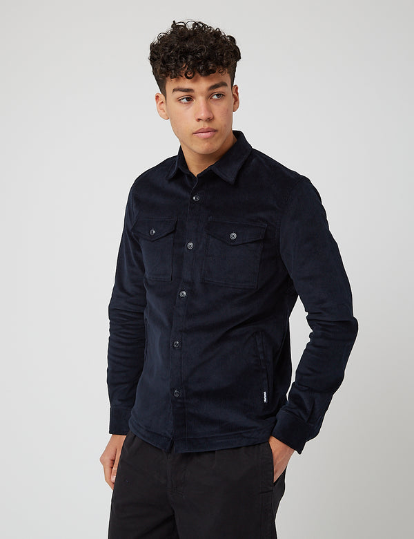 Barbour Shirt Jacket (Cord) - Navy Blue