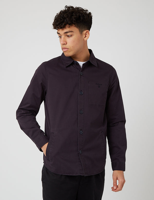 Barbour Dunrobin Overshirt - Navy Blue