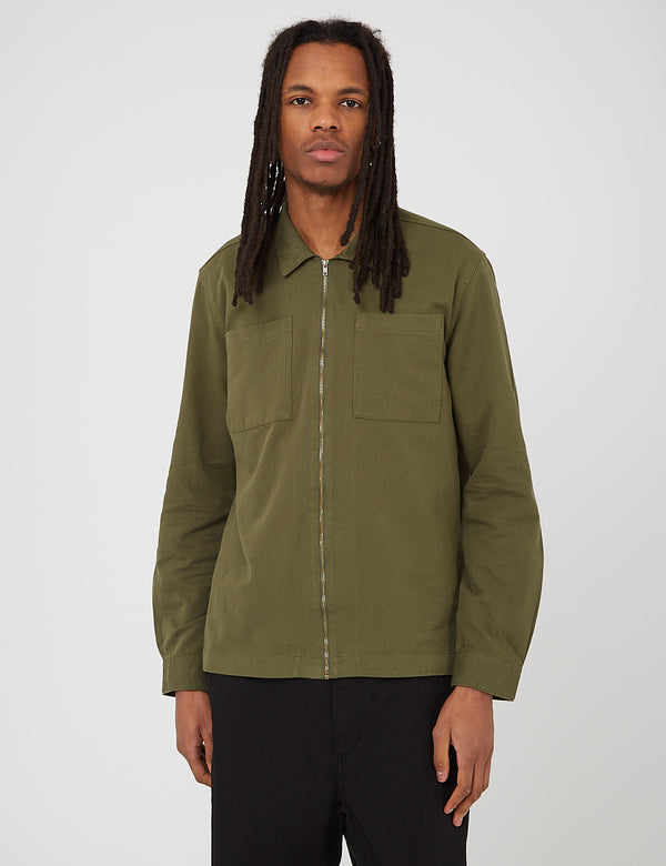 Barbour Ulverston Overshirt - Mid Olive