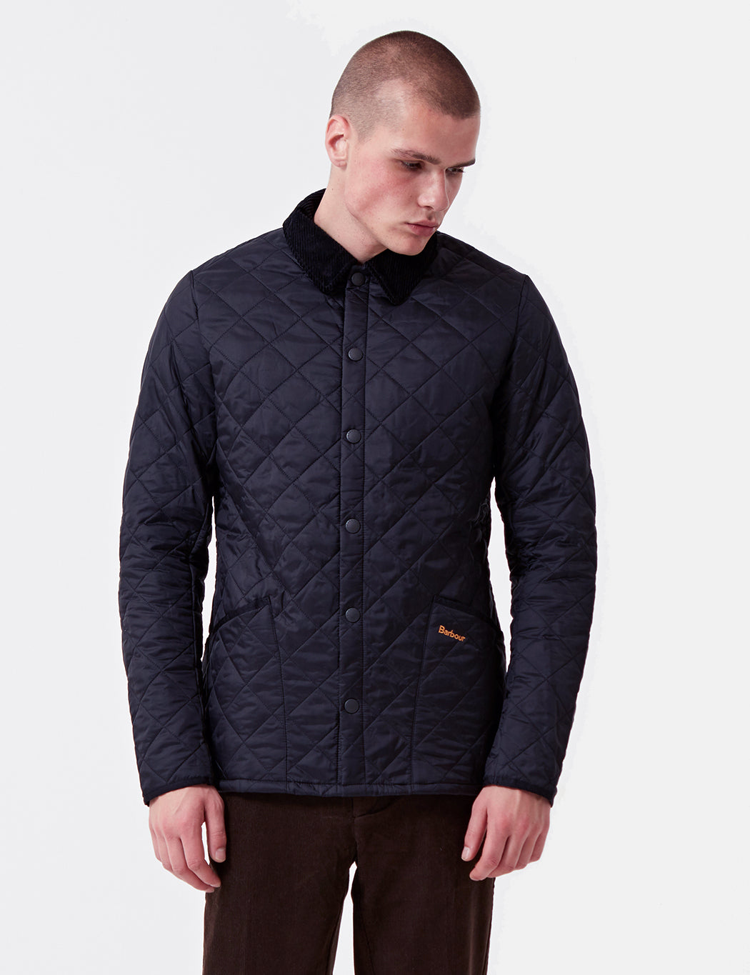 Barbour Heritage Liddesdale Quilted Jacket - Navy Blue